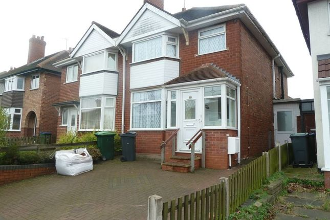 Thumbnail Semi-detached house to rent in Lyndhurst Road, West Bromwich