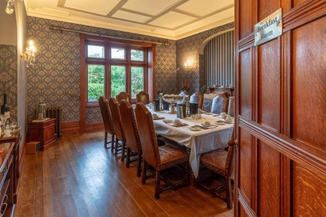 Breakfast Room of Tremfan Hall, Llanbedrog, Gwynedd LL53