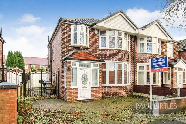 Thumbnail Semi-detached house to rent in Guildford Road, Urmston, Manchester
