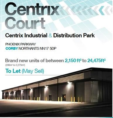 Thumbnail Commercial property for sale in Unit 7 Centrix Court, Phoenix Parkway, Corby, Northants