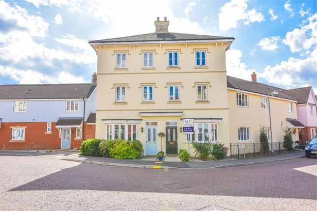 Thumbnail Town house for sale in Gratian Close, Highwoods, Colchester, Essex
