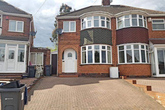 Thumbnail Semi-detached house to rent in Sandringham Road, Great Barr, Birmingham