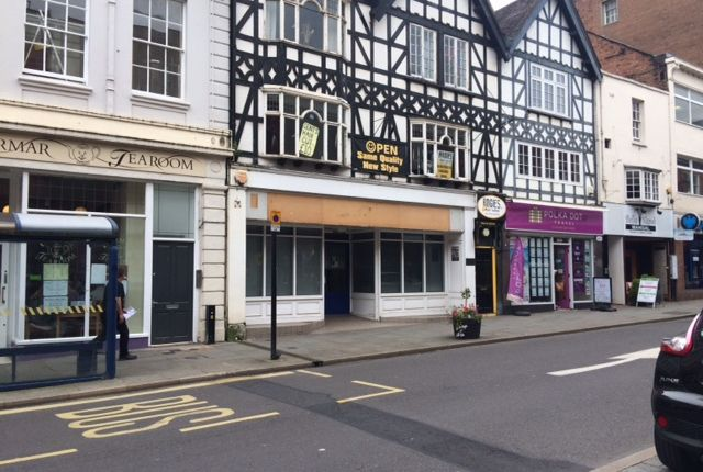Retail premises to let in Castle Street, Shrewsbury