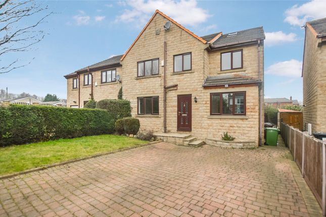Thumbnail 5 bed semi-detached house for sale in Oliver Court, Drighlington, Bradford, West Yorkshire
