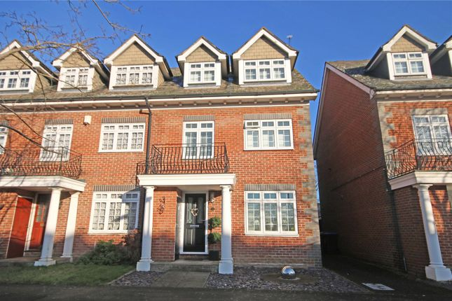 Thumbnail End terrace house for sale in Addlestone, Surrey
