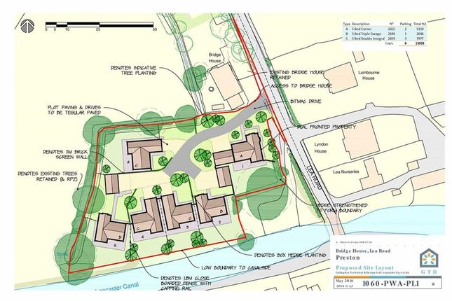 Thumbnail Land for sale in Westleigh Mews, Lea Road, Lea, Preston
