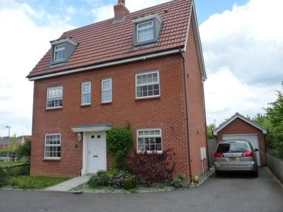 Thumbnail Detached house to rent in Chaffinch Road, Bury St. Edmunds