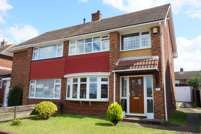 Thumbnail Semi-detached house for sale in Clipper Crescent, Gravesend, Kent
