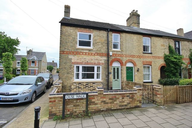 Thumbnail End terrace house to rent in Ouse Walk, Huntingdon