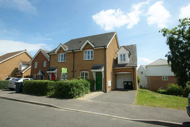 3 bed semi-detached house to rent in Lodge Wood Drive, Ashford, Kent