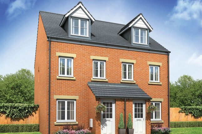 "Thumbnail Semi-detached house for sale in ""The Souter"" at Pendderi Road, Bynea, Llanelli"