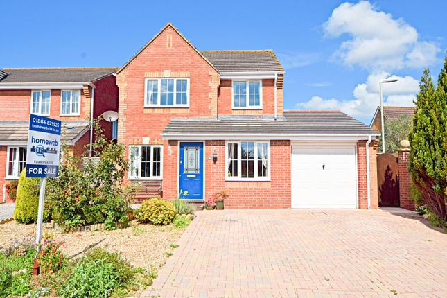 Thumbnail Detached house for sale in Siskin Chase, Culllompton