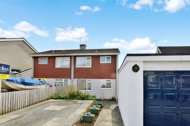 Thumbnail Semi-detached house for sale in Mortimore Close, Saltash, Cornwall