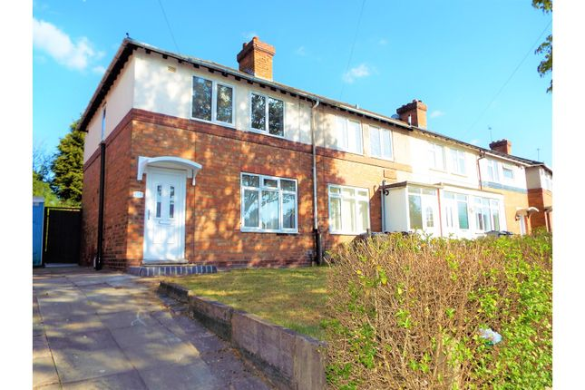 Thumbnail End terrace house for sale in Hazelville Road, Birmingham