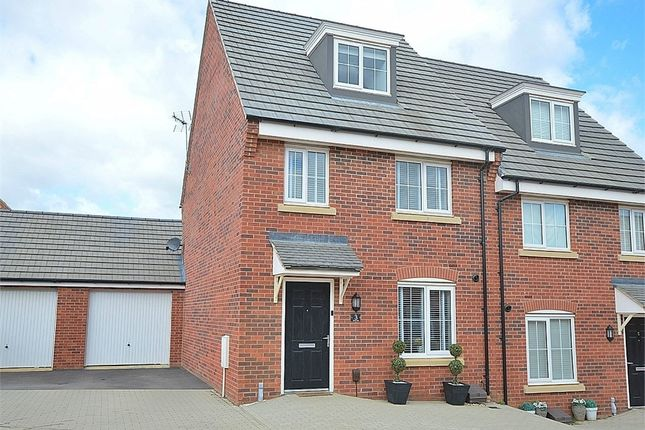 Thumbnail Semi-detached house for sale in Drake Way, Dragonfly Meadows, Northampton