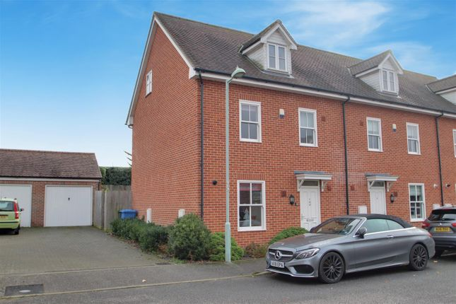 Thumbnail Town house for sale in Joseph Close, Hadleigh, Ipswich