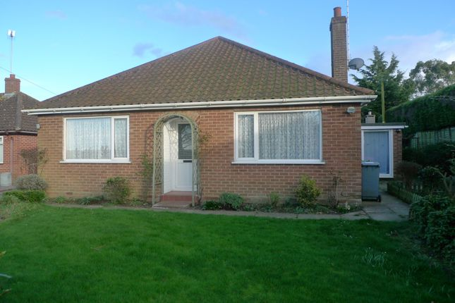 Thumbnail Detached bungalow for sale in Church Road, Upton, Norwich