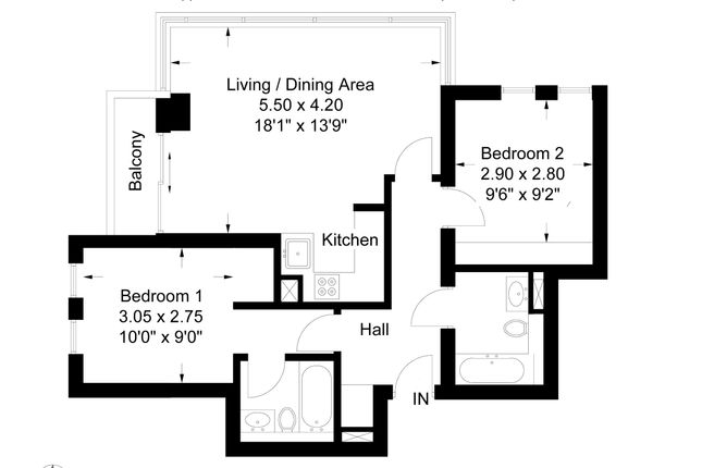 Floorplan of East Tower, Pan Peninsula, Canary Wharf E14