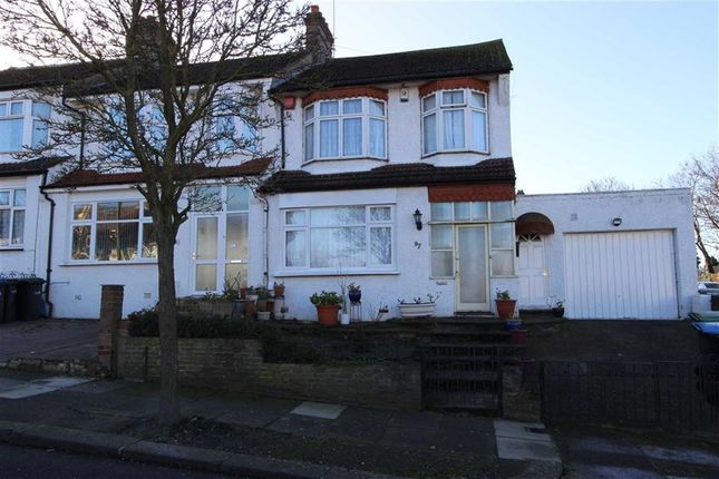 Thumbnail End terrace house for sale in Evesham Road, Bounds Green, London
