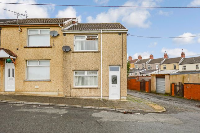 Thumbnail End terrace house for sale in St. Annes Crescent, Gilfach, Bargoed