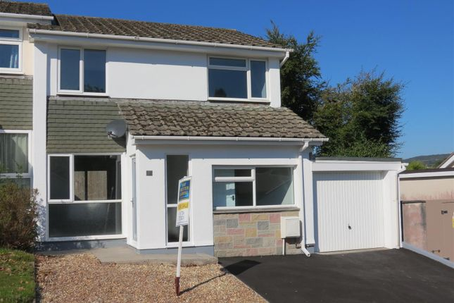 Thumbnail Semi-detached house for sale in Edinburgh Close, Carlyon Bay, St. Austell
