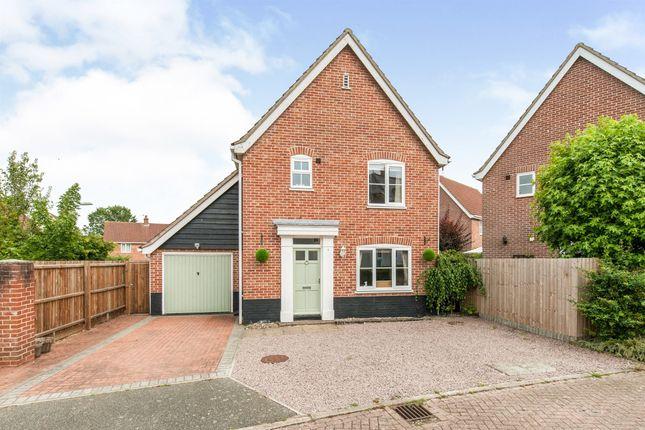 Thumbnail Detached house for sale in Snowdrop Close, Bury St. Edmunds