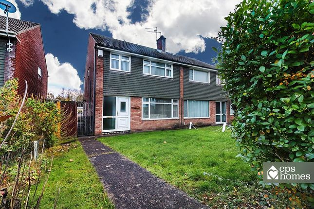 Thumbnail Semi-detached house for sale in Wellwood, Llanedeyrn, Cardiff