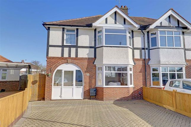 Thumbnail Semi-detached house for sale in Livesay Crescent, Broadwater, Worthing, West Sussex