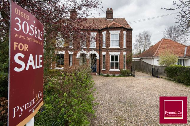 Thumbnail Semi-detached house for sale in Wroxham Road, Sprowston