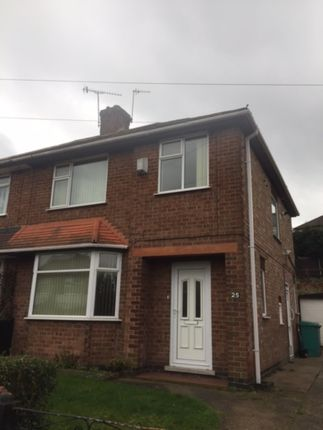 Thumbnail Semi-detached house to rent in Belmont Avenue, Highbury Vale, Nottingham