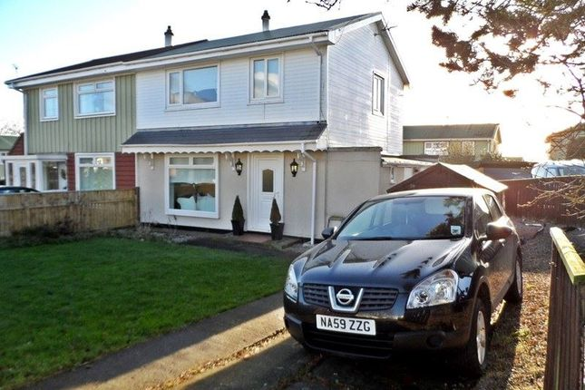 Thumbnail Semi-detached house for sale in Hillsyde Crescent, Thornley, Durham