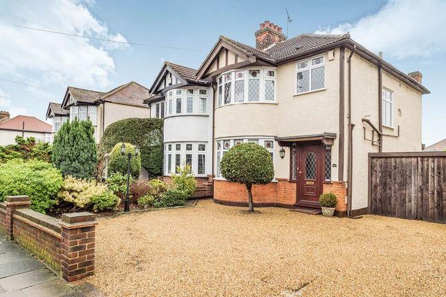 Thumbnail Semi-detached house for sale in Pettits Lane, Gidea Park, Romford
