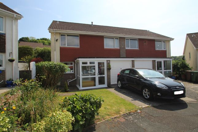 Thumbnail Semi-detached house for sale in Budleigh Close, Goosewell, Plymouth, Devon