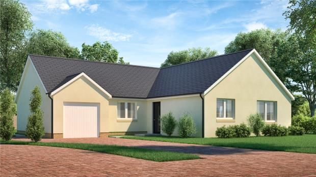 Thumbnail Detached bungalow for sale in Plot 3 The Galvelmore, Mill Wynd, Mill Road, Crieff
