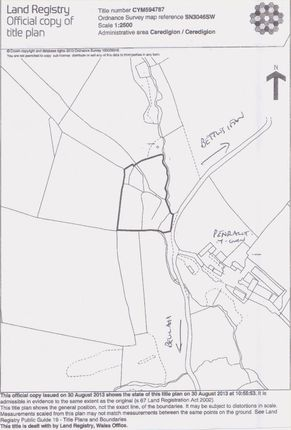 Land for sale in Beulah, Newcastle Emlyn