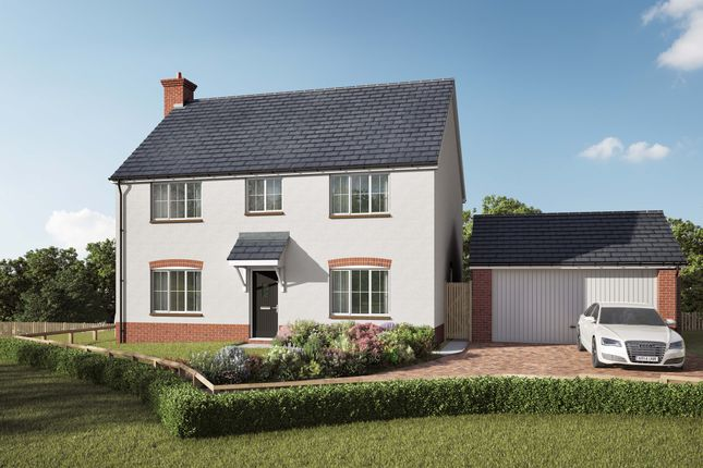 Thumbnail Detached house for sale in Willow Walk, Lea, Ross-On-Wye, Herefordshire