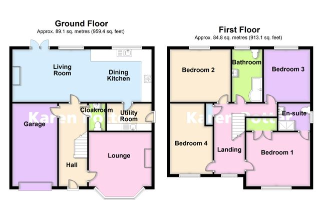 2d Floor Plans of Holywell Gardens, Birkdale, Southport PR8