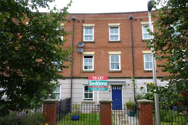 Thumbnail Terraced house to rent in Marley Close, Tiverton, Devon