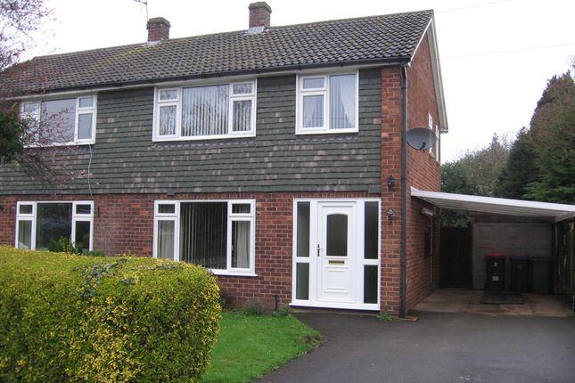 Semi-detached house to rent in Mentone Crescent, Edgmond, Newport, Shropshire