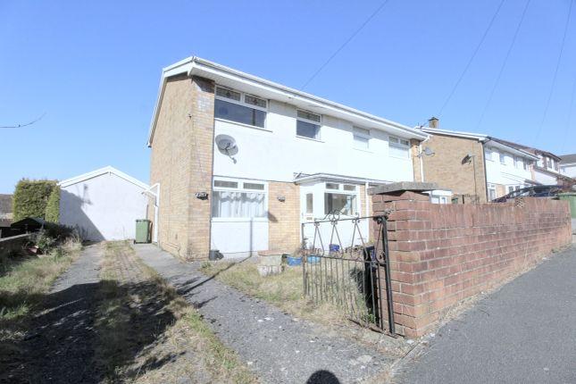 Thumbnail Semi-detached house for sale in Brunel Close, Penpedairheol, Hengoed