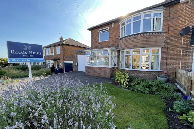 Thumbnail Semi-detached house for sale in Westwood Road, Brunton Park, Gosforth