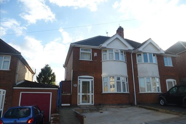 Thumbnail Semi-detached house for sale in Somerset Avenue, Leicester