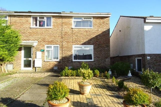 Thumbnail Semi-detached house for sale in The Chase, Brackla, Bridgend