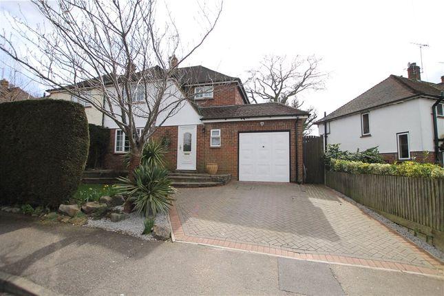 Thumbnail Semi-detached house for sale in Broadley Green, Windlesham, Surrey