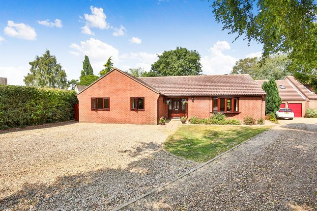 Thumbnail Detached bungalow for sale in Cuttons Corner, Hemblington, Norwich