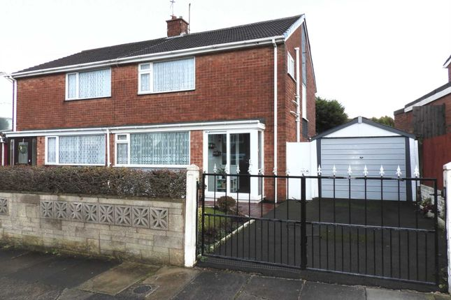 Thumbnail Semi-detached house for sale in Millbrook Drive, Old Hall Estate, Kirkby