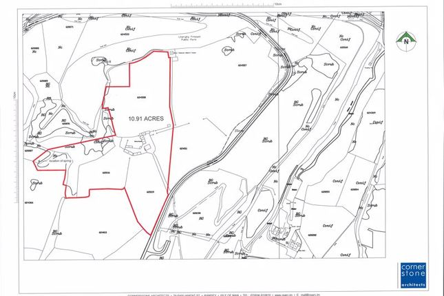 Land Plan of Tower Farm, Mountain Road, Maughold IM7