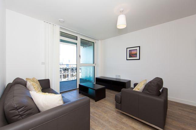 Lounge of Poldo House, Enderby Wharf, Greenwich SE10