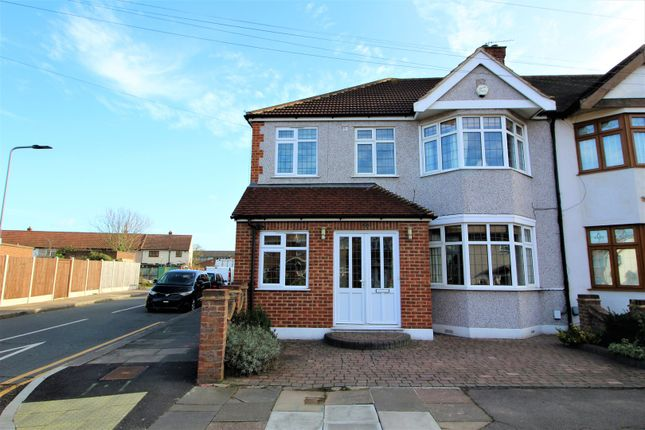 Thumbnail End terrace house for sale in Brian Road, Chadwell Heath, Romford
