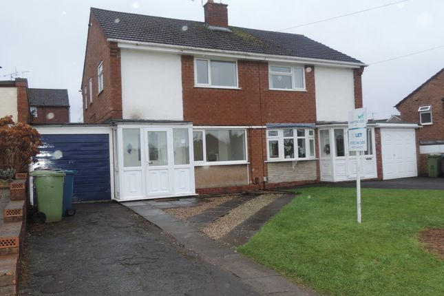 Thumbnail Semi-detached house to rent in Farmdown Road, Baswich, Stafford, Staffordshire